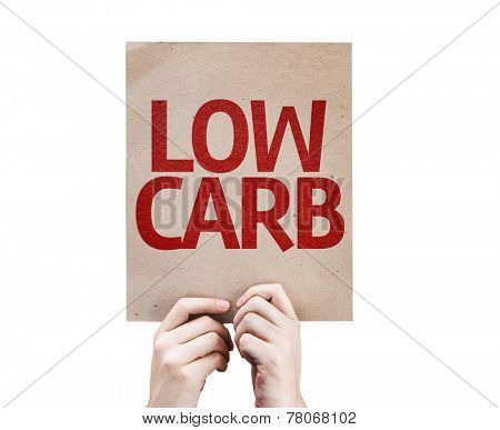 Low Carb card isolated on white background