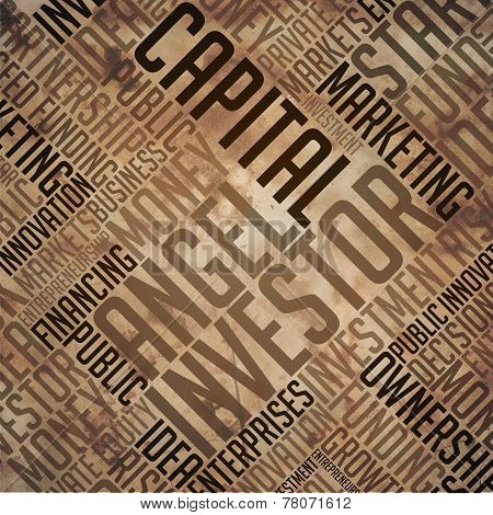 Angel Investor - Grunge Brown Word Collage