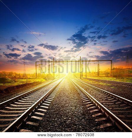 Railway Receding Into The Distance