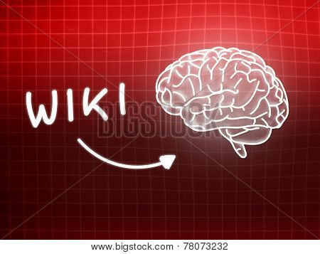 Wiki Brain Background Knowledge Science Blackboard Red