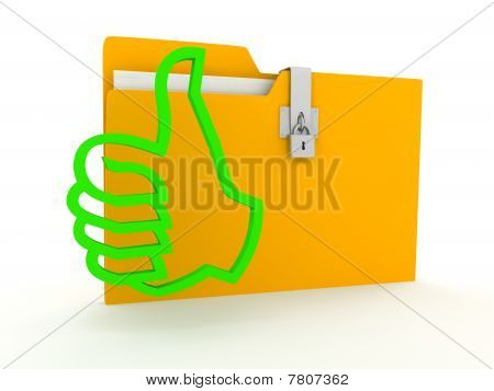 Folder Over White Background