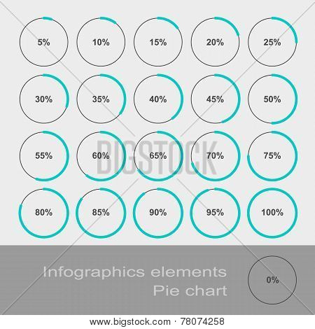 Circle Diagram Pie. Infographic Elements