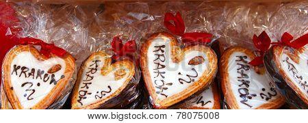 Gingerbread Hearts At Christmas Market