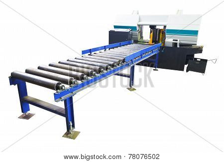 Two-column Band Saw Machine With Feeder Isolated