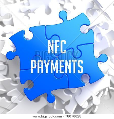 NFC Payments on Blue Puzzle.