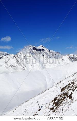 Winter Mount At Sunshine Day