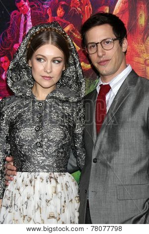 LOS ANGELES - DEC 10:  Joanna Newsom, Andy Samberg at the