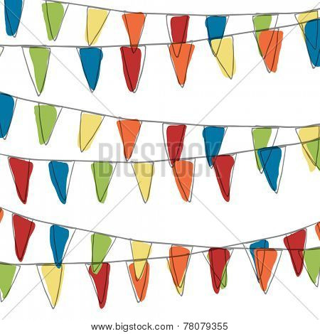Holidays Pennant Bunting Illustration (Not Seamless)