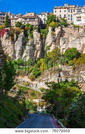 Houses Hung In Cuenca, Spain