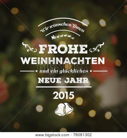 Digitally generated Happy new year vector in german
