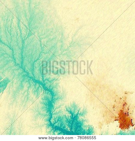 Old texture with delicate abstract pattern as grunge background. With different color patterns: blue; orange; yellow