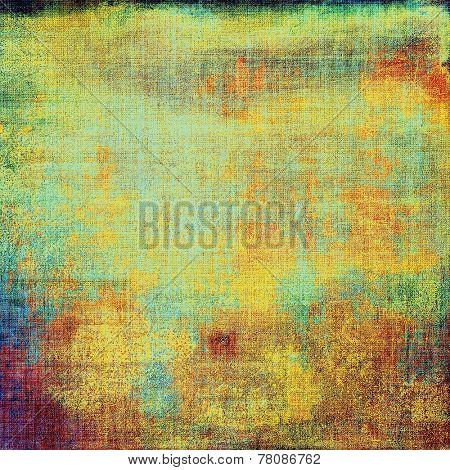 Abstract textured background designed in grunge style. With different color patterns: blue; green; orange; yellow