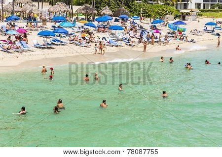 People Enjoy The Jade Beach