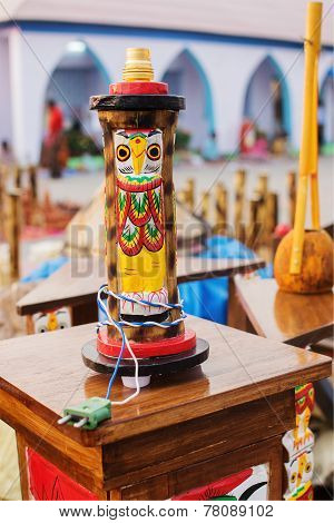 Handmade Table Lamp, Indian Handicrafts Fair At Kolkata