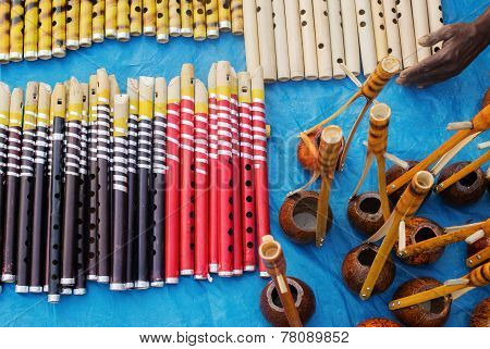 Flutes And Monochords,  Indian Handicrafts Fair At Kolkata