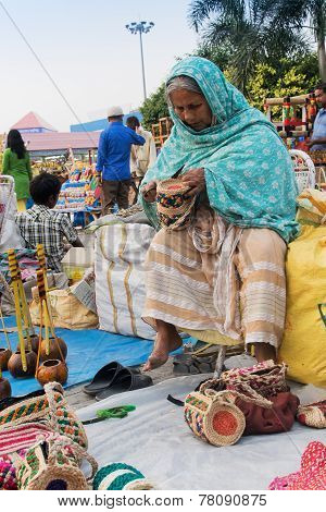 Handmade Jute Bags , Indian Handicrafts Fair At Kolkata