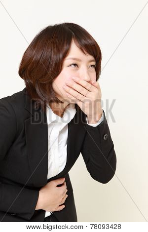 apanese businesswoman vomit