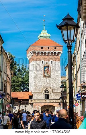 St. Florian's Gate In Krakow