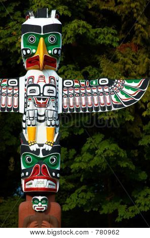Totem Pole: Eagle wings.