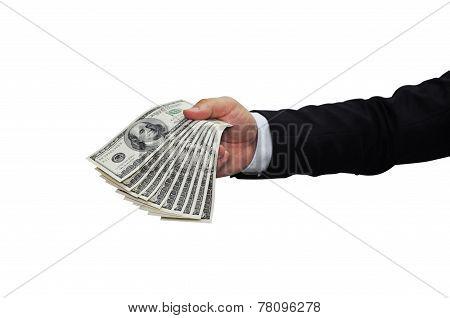 Currency Bill - 1000 Dollar in hand