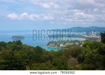 Karon Viewpoint On Island Of Phuket, Thailand