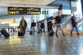 foto of lineup  - Airline Passengers at the Airport - JPG