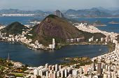 stock photo of olympic mountains  - Rio de Janeiro Hills, Lake, Urban Districts, Sugarloaf Mountain.
