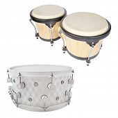 image of vaudeville  - The image of a drum under a white background - JPG