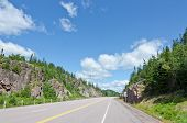 stock photo of trans  - Picture of the Trans Canada Highway Along Superior Lake Shore - JPG
