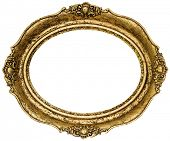 picture of oval  - Golden Oval Picture Frame Cutout - JPG