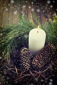 foto of pine cone  - Decorative christmas composition  - JPG