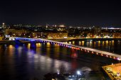 image of serbia  - Cityscape in Novi Sad, Serbia photographed by night ** Note: Soft Focus at 100%, best at smaller sizes - JPG