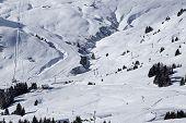 image of ravines  - Snowy ravine Les Crozets - JPG