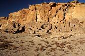 stock photo of pueblo  - Pueblo Ruins with Kiva in Foreground - JPG