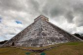 stock photo of yucatan  - Kukulkan Pyramid in Chichen Itza on the Yucatan Mexico - JPG