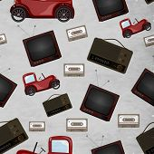 foto of  jeep  - Seamless pattern with retro television - JPG