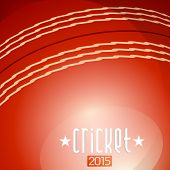 pic of cricket ball  - Cricket 2015 text on red cricket ball background - JPG