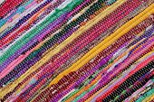 pic of carpet  - Close up of beautiful colorful hand made motley rug or carpet - JPG