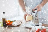 stock photo of shredded cheese  - cooking - JPG