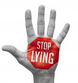 picture of wallow  - Stop Lying Sign Painted  - JPG