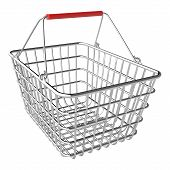 picture of movable  - Vector empty shopping basket on white background - JPG