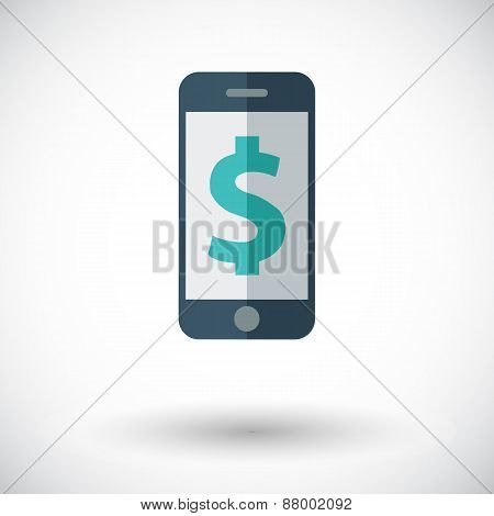 Phone with dollar sign