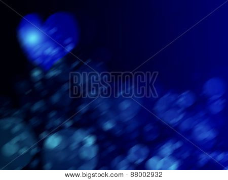 Blue Grunge Valentines Day Background With Hearts