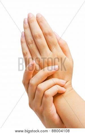 female hand and skin care
