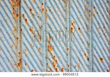 Background Sheet Steel With Elements Of Rust