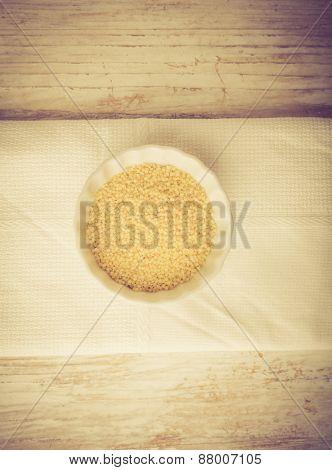 Bulgur Wheat Groats, Couscous. Vintage Photo