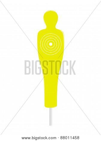 Yellow and white human target
