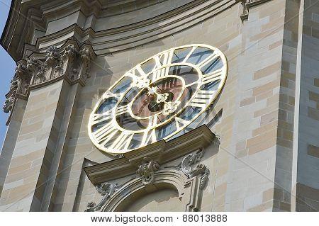 Saint Gallen church clock tower