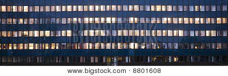 Office building in eevening