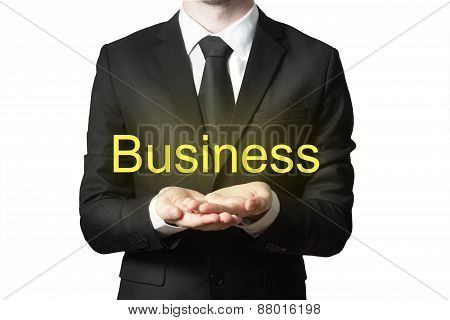 Businessman With Open Hands Business Isolated